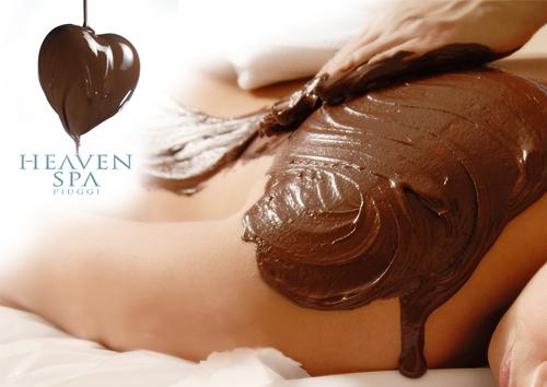 Cuore fondente massaggio al cioccolato